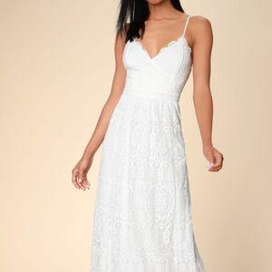 Lulus Unending Love White Lace Maxi Dress